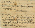 Receipt for tuition; April 13, 1863