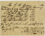 Mrs. J. H. Curry bill for household goods; 3/3/1863