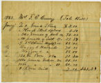Mrs. S. E. Curry bill for household goods; 01/1863
