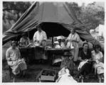 1927 flood refugee sewing tent