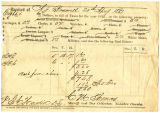 Tax receipt for 1866