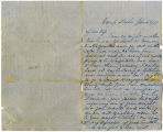 Letter, A. J. Boswell to Cynthia Jackson Boswell; 1/4/1862