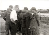 Sonny Montgomery speaking to a group of soldiers
