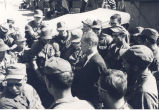 Sonny Montgomery talks with a group of soldiers