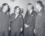 Sonny Montgomery talks to 3 decorated soldiers