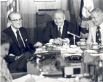 Sonny Montgomery and Senator John C. Stennis at a press conference