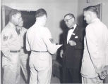 Senator John C. Stennis at Air Force Academy, Colorado Springs, CO on Armed Services Inspection...