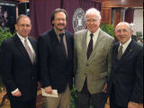 McGrevey, Myers, Gleason and Marszalek at Marszalek Library Fund and Lecture Series