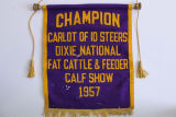 Champion Scroll from Dixie National Fat Cattle & Feeder Show 1957