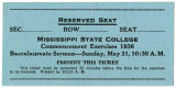 1936 Commencement Ticket