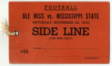 Mississippi State University Sideline Ticket