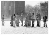 Snow, Student Life, Mitchell Memorial Library
